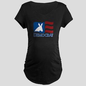 Democratic Flag Maternity Dark T-Shirt