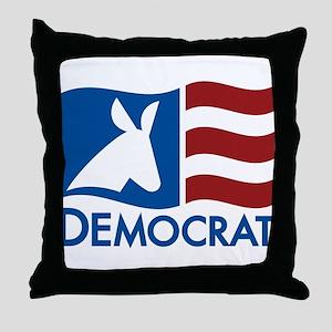 Democratic Flag Throw Pillow