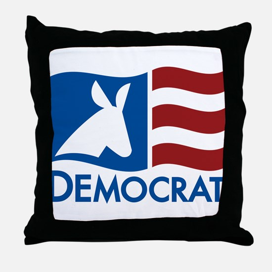 Democratic Flag Throw Pillow