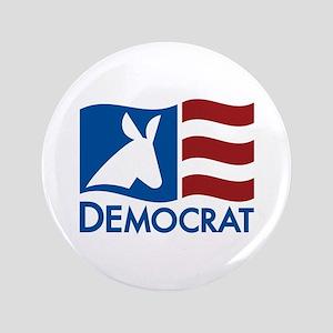 "Democratic Flag 3.5"" Button"
