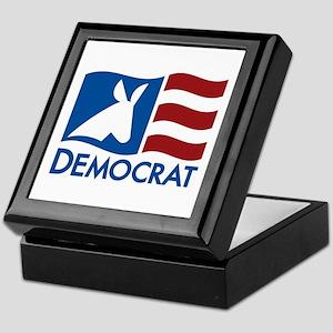 Democratic Flag Keepsake Box