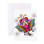 cacats and cosmos Greeting Cards (Pk of 20)