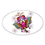 cacats and cosmos Sticker (Oval)