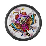 cacats and cosmos Large Wall Clock