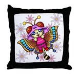 cacats and cosmos Throw Pillow