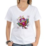 cacats and cosmos Women's V-Neck T-Shirt