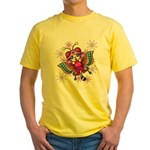 cacats and cosmos Yellow T-Shirt