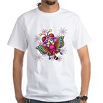 cacats and cosmos White T-Shirt