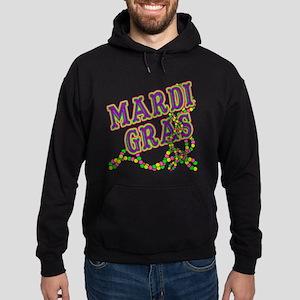 Mardi Gras in Purple and Green Hoodie (dark)