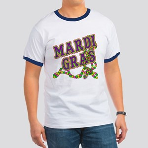 Mardi Gras in Purple and Green Ringer T