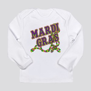 Mardi Gras in Purple and Green Long Sleeve Infant