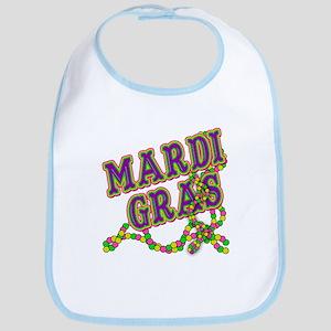Mardi Gras in Purple and Green Bib