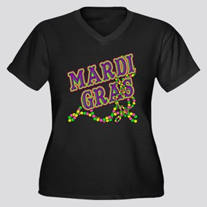 Mardi Gras in Purple and Green Women's Plus Size V