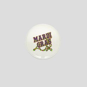 Mardi Gras in Purple and Green Mini Button