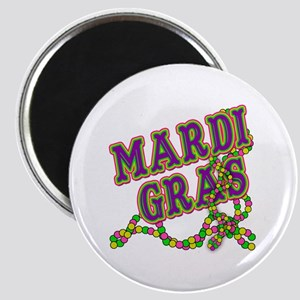 Mardi Gras in Purple and Green Magnet