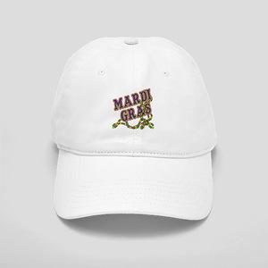 Mardi Gras in Purple and Green Cap