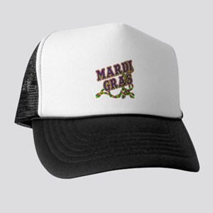 Mardi Gras in Purple and Green Trucker Hat