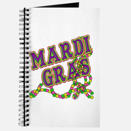 Mardi Gras in Purple and Green Journal