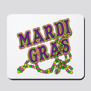 Mardi Gras in Purple and Green Mousepad