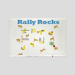 Rally Rocks v6 Rectangle Magnet