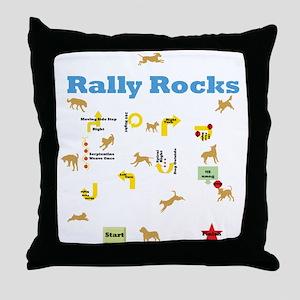 Rally Rocks v6 Throw Pillow
