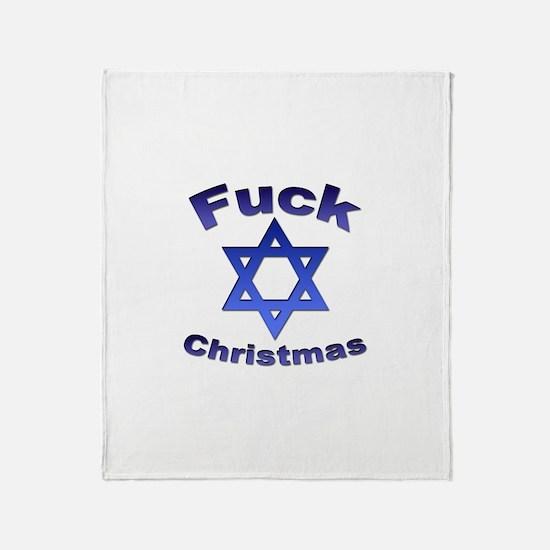 Fuck X-mas 2 Throw Blanket