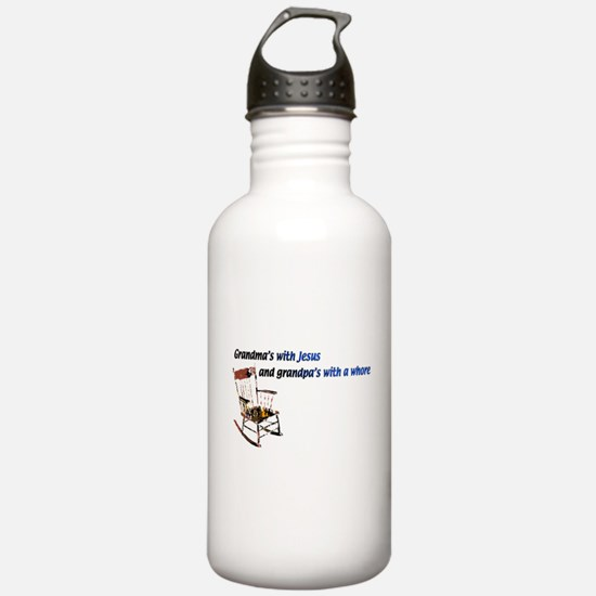 Grandma's with Jesus Water Bottle