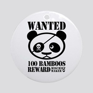 WANTED PANDA Ornament (Round)