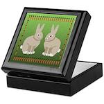 Rabbits and Carrots Keepsake Box