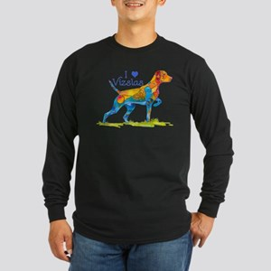 I LOVE HUNGARIAN VIZSLAS GIFTS Long Sleeve Dark T-
