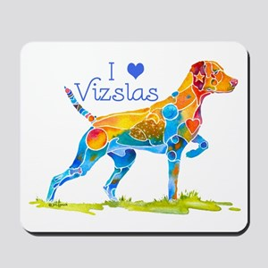 I LOVE HUNGARIAN VIZSLAS GIFTS Mousepad