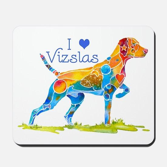 I LOVE HUNGARIAN VIZSLAS GIFTS Mousepad