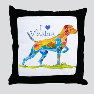 I LOVE HUNGARIAN VIZSLAS GIFTS Throw Pillow