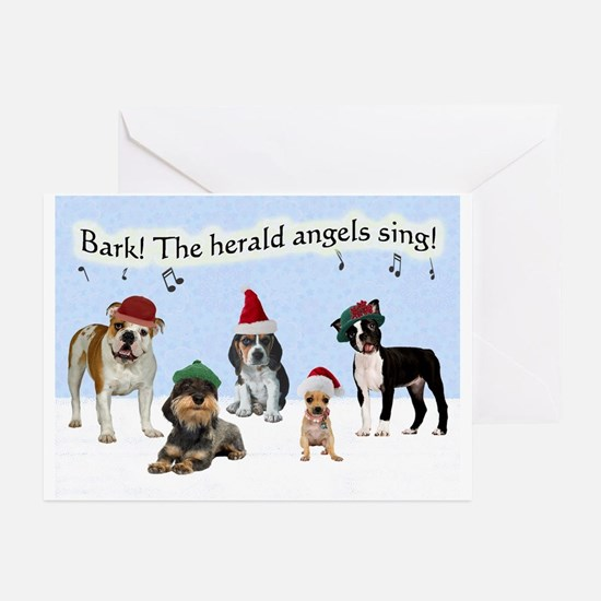 Bark The Herald Angels Sing Christmas Cards 10 Pk.