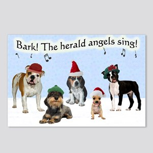 Bark The Herald Angels Sing Postcards (Pack of 8)