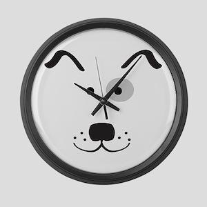 Cartoon Dog Face Large Wall Clock