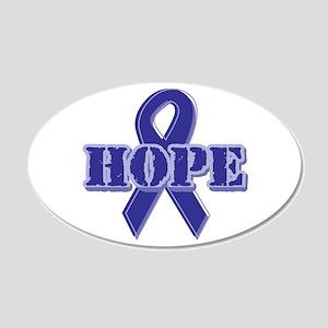 Purple Hope Ribbon 22x14 Oval Wall Peel