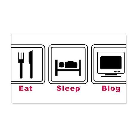 Eat Sleep Blog 22x14 Wall Peel