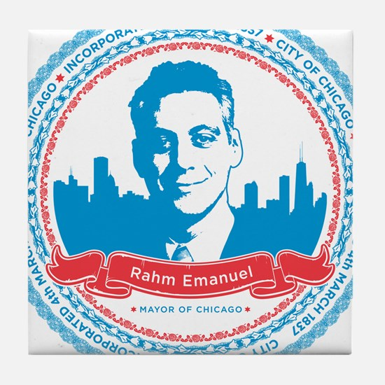 Mayor Rahm Tile Coaster