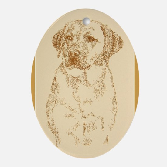 Yellow Labrador Retriever Ornament (Oval)
