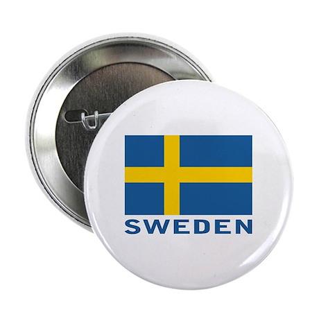 Swedish flag Button