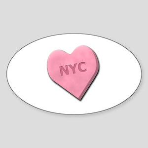Sweetheart NYC Sticker (Oval)