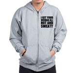 Sweaty Man Zip Hoodie
