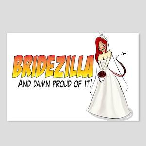 Redhead Bridezilla Postcards (Package of 8)