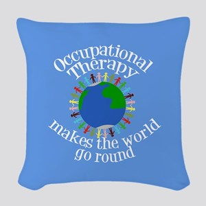 Occupational Therapy World Woven Throw Pillow