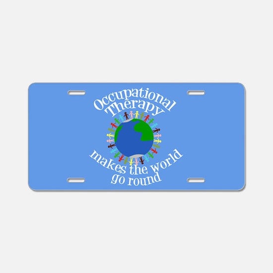 Occupational Therapy World Aluminum License Plate