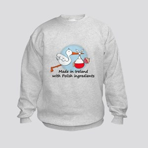 Stork Baby Poland Ireland Kids Sweatshirt