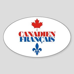 Canadien Francais 2 Sticker (Oval)