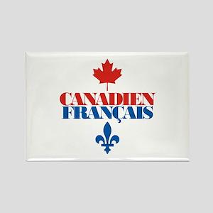 Canadien Francais 2 Rectangle Magnet