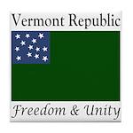 Vermont Republic Tile Coaster